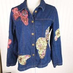 Patchwork Embroidered Butterfly long sleeve